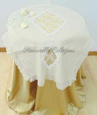 ADELE Doily in Linen and Lace