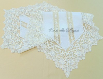 MARINA Doily in Linen and Lace